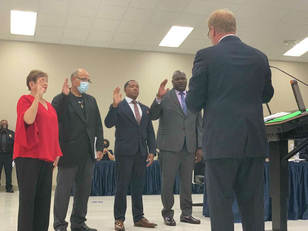 New board members were sworn in to the Beaumont ISD Board of Trustees on Thursday May 20, 2021