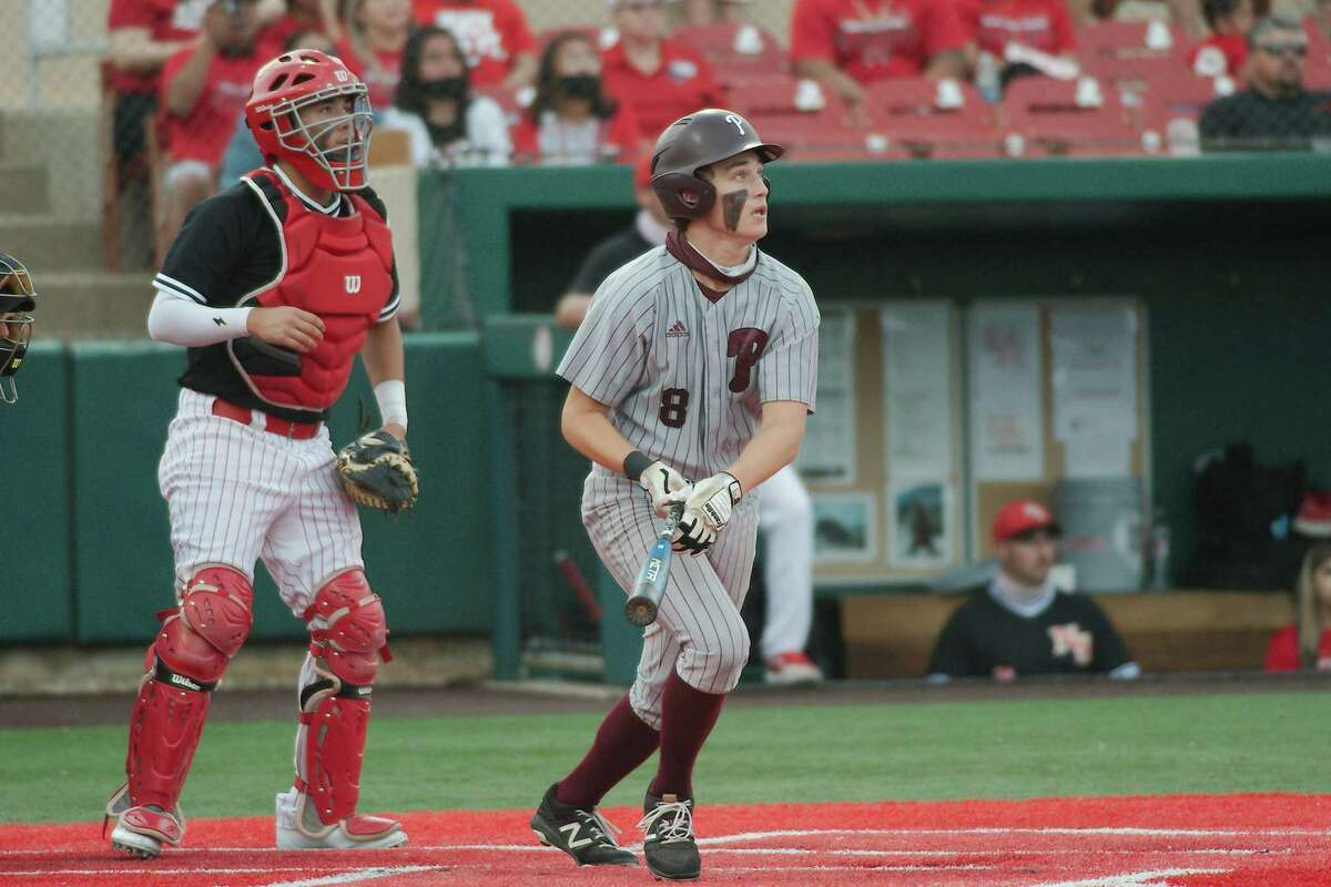 Pearland's Caden Ferraro (8) was one of several local athletes selected to the all-District 23-6A baseball team.