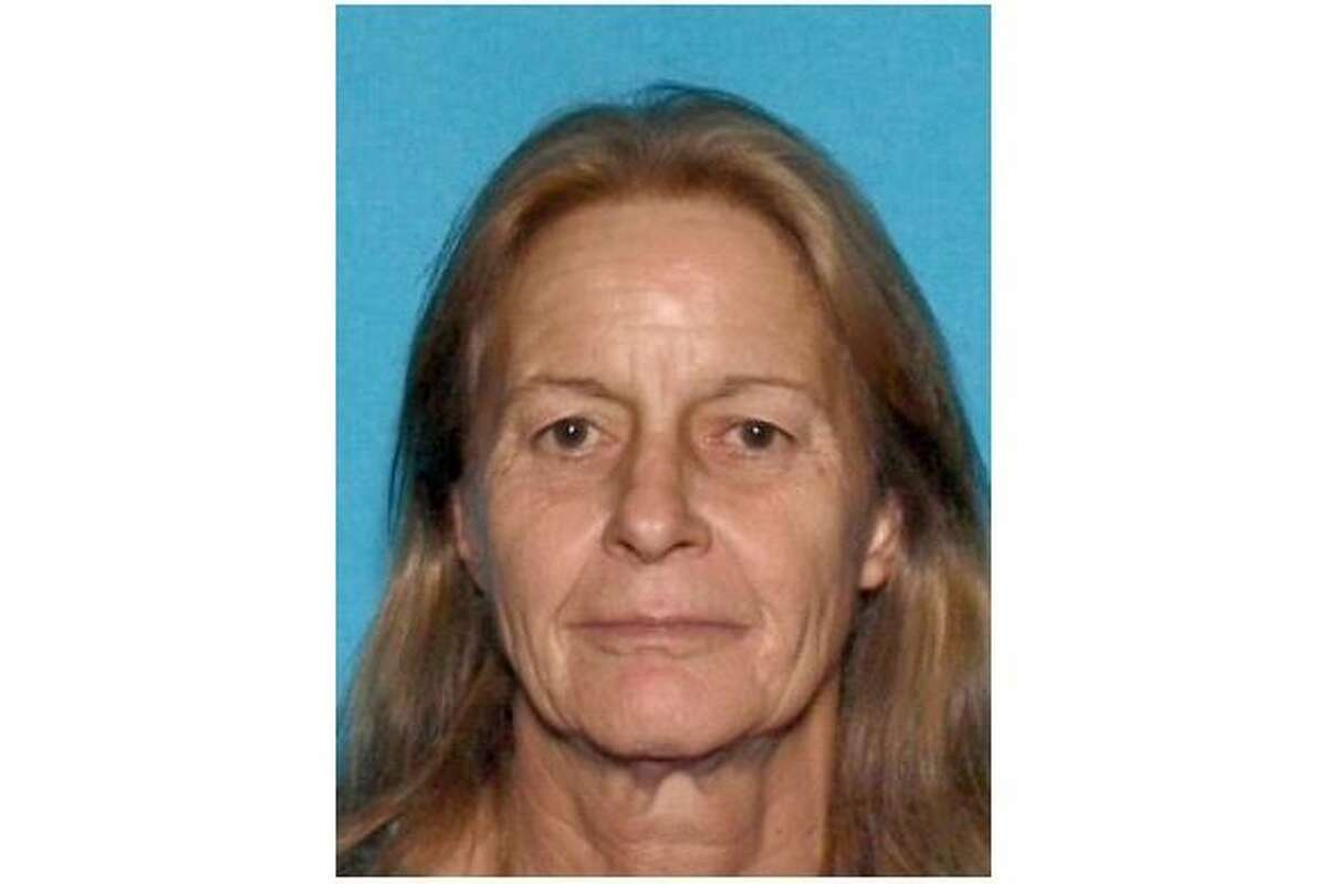 """Tracy Denise Benson, 60, pictured, has been publicly identified as a homicide victim just over three weeks after East Bay Regional Park District police officers on April 26 were alerted by a park-goer to partially decomposed remains at an """"undisclosed location"""" at Lake Chabot Regional Park in Castro Valley on April 26, police said Thursday."""