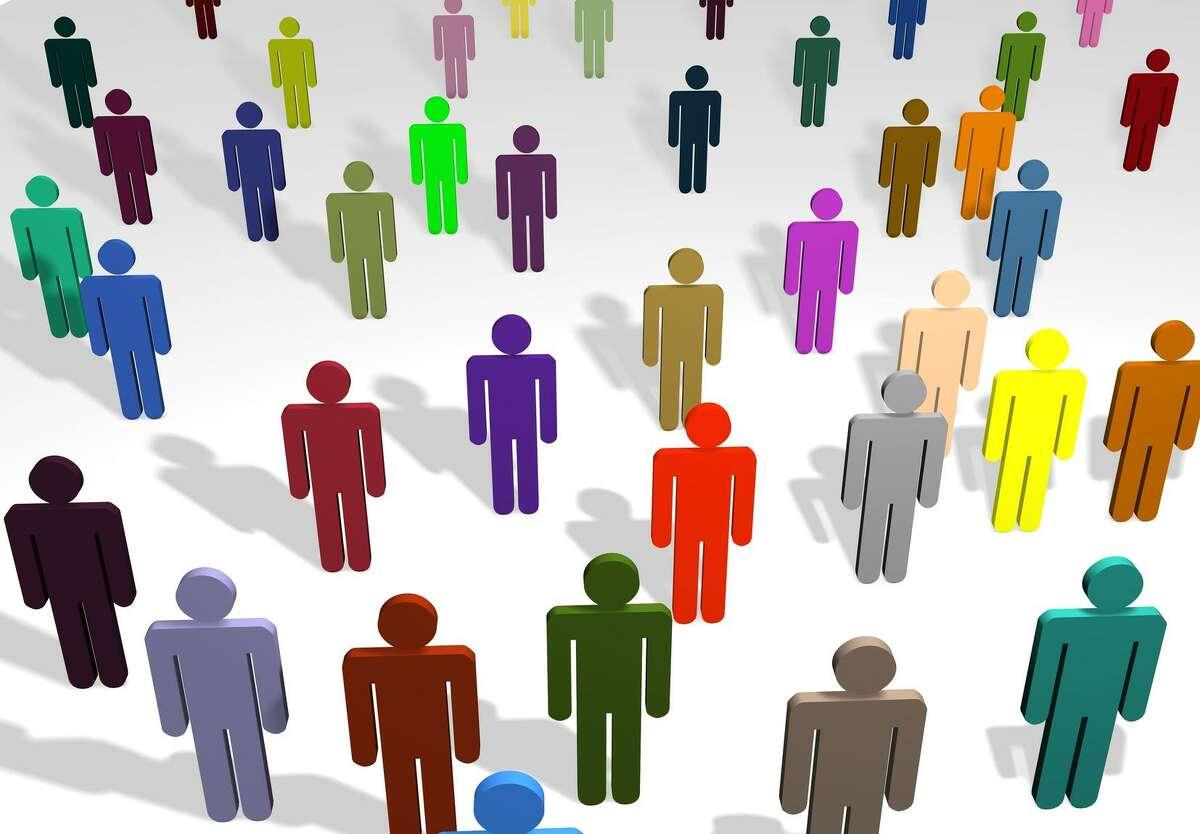 cutout people. community. multiple color people. Fotolia.