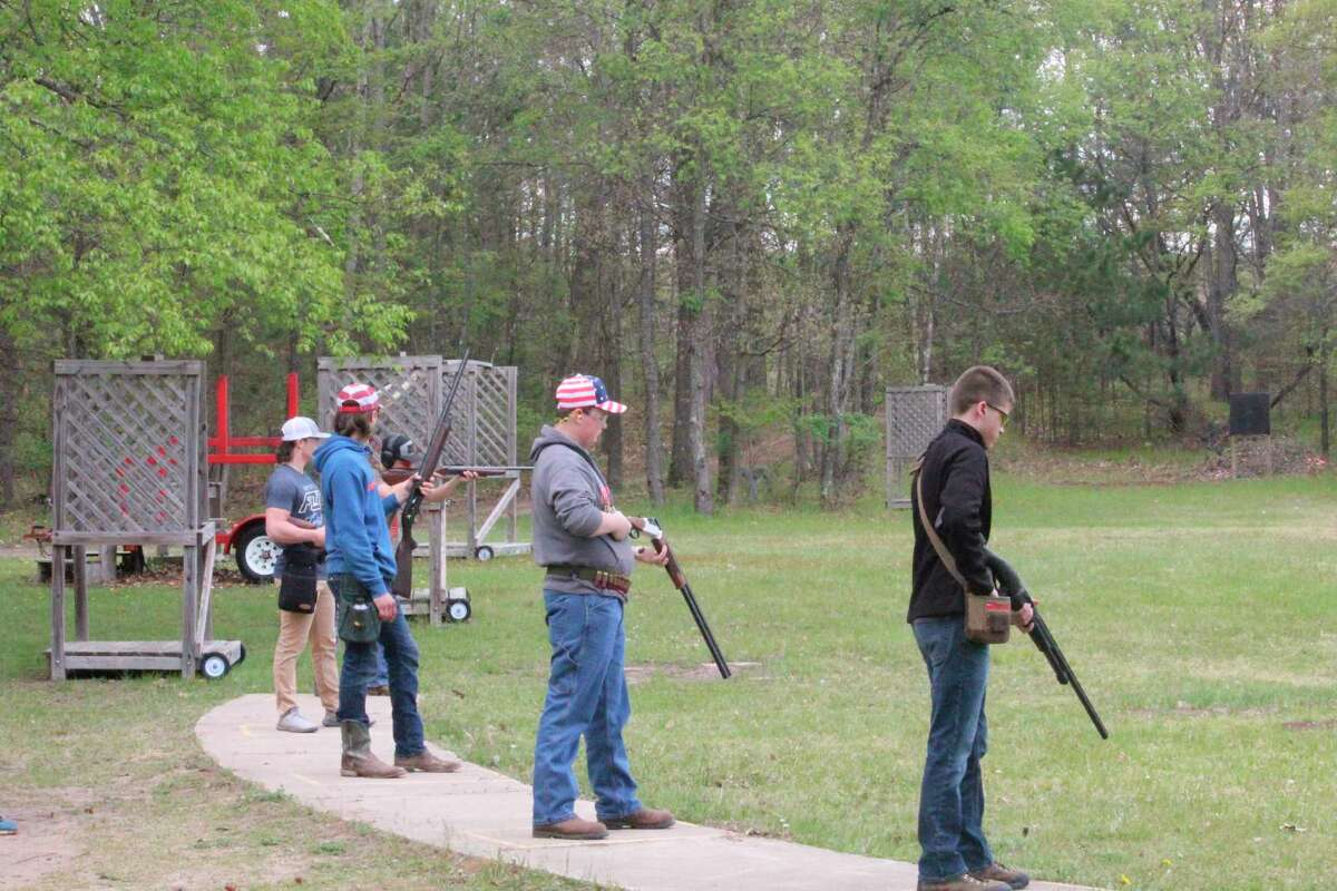 High school shooters compete in competition on Sunday at the Mecosta County Rod & Gun Club. (Pioneer photo/John Raffel)