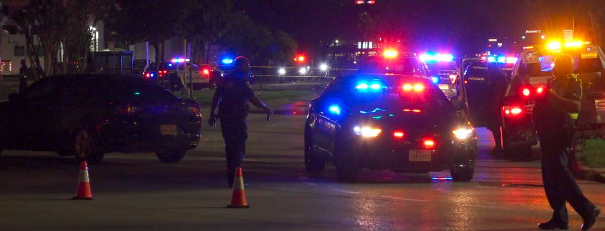 Houston police fatally shot a man who authorities say fired at officers.