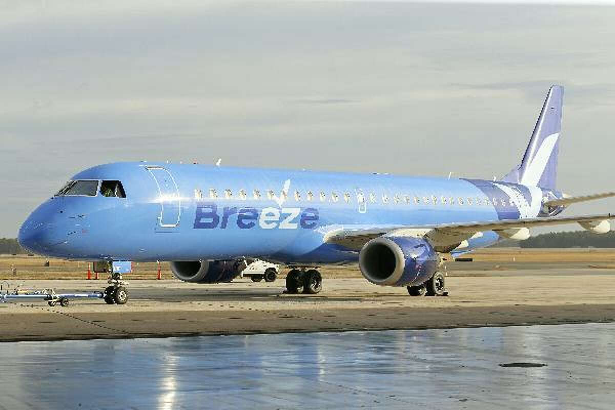 Utah-based Breeze Airways, a new start-up carrier, announced Friday it will begin offering non-stop service to four cities this summer from Bradley International Airport in Windsor Locks.