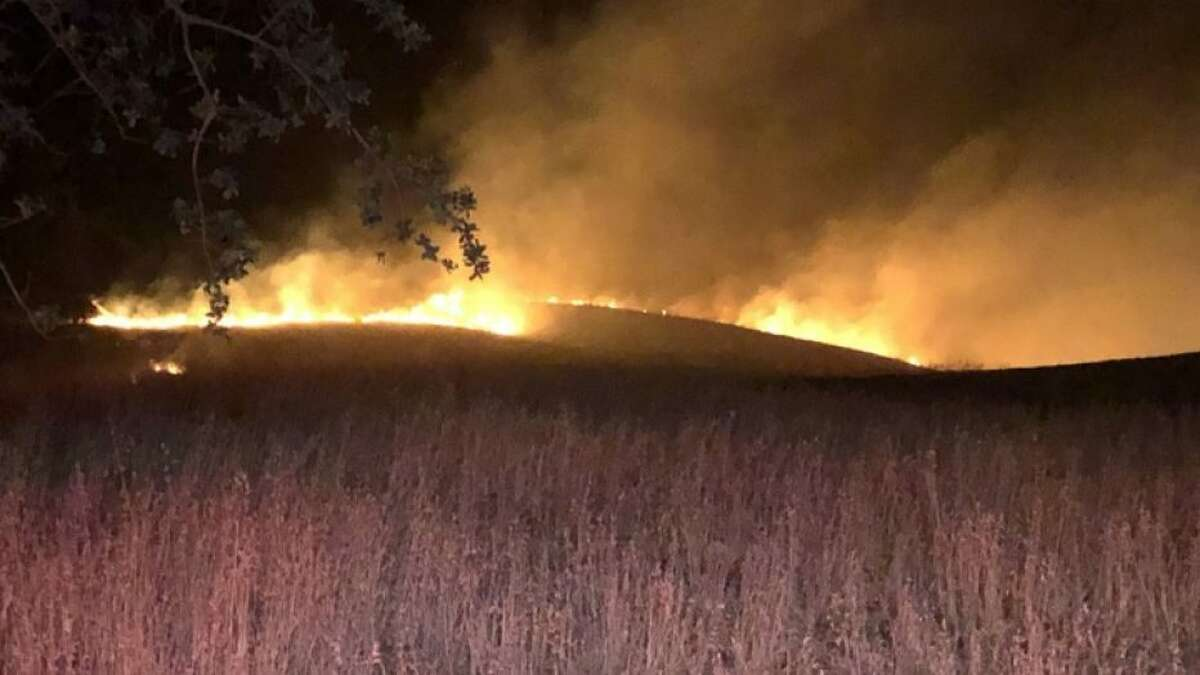 A KTVUnews photographer captured images of a wildfire that broke out on Mount Diablo early Friday morning.