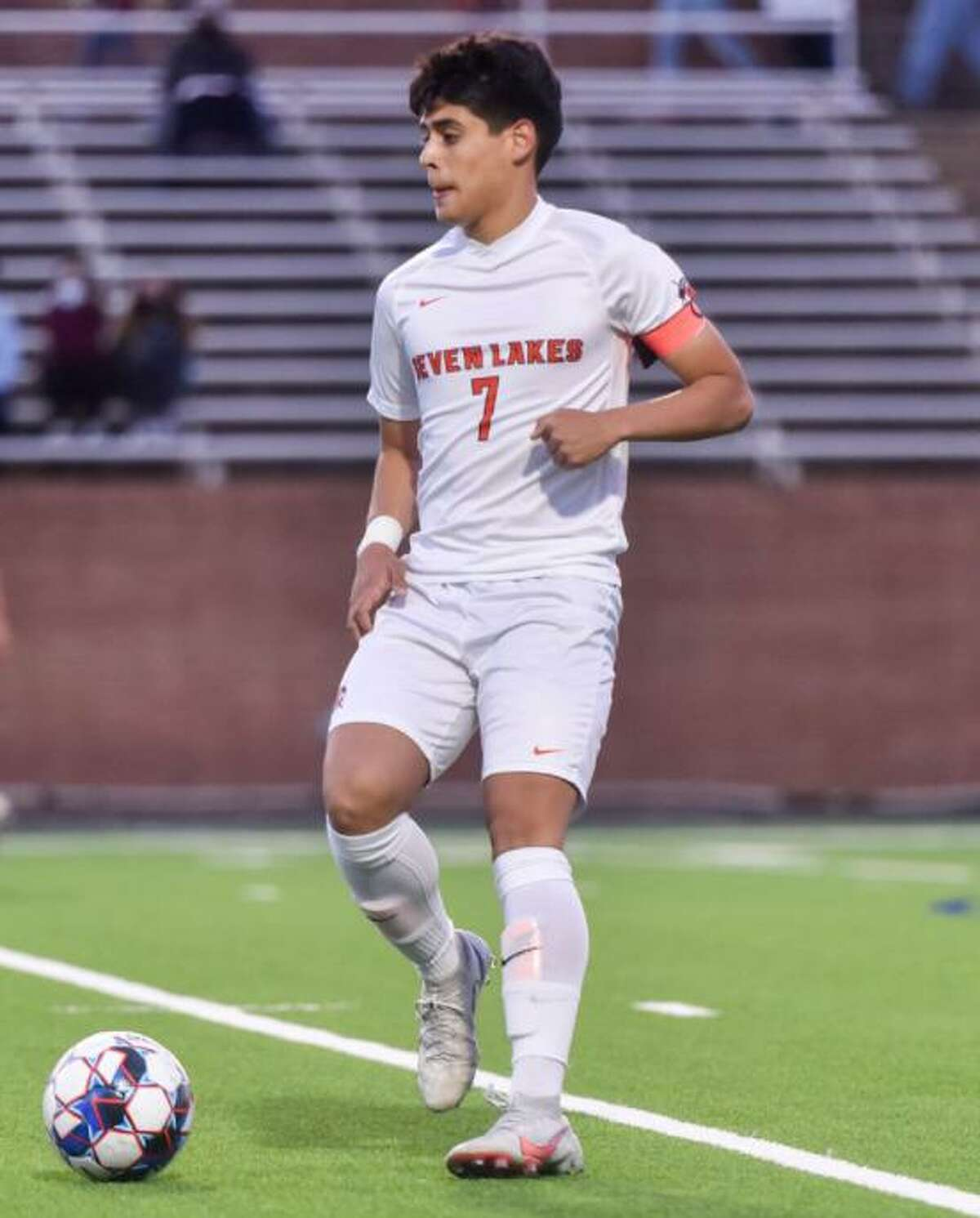 Seven Lakes senior Diego Lazo was voted District 19-6A Most Valuable Player after leading the Spartans to a 19-2-1 season that included a district championship, area championship and a school record for winning percentage.