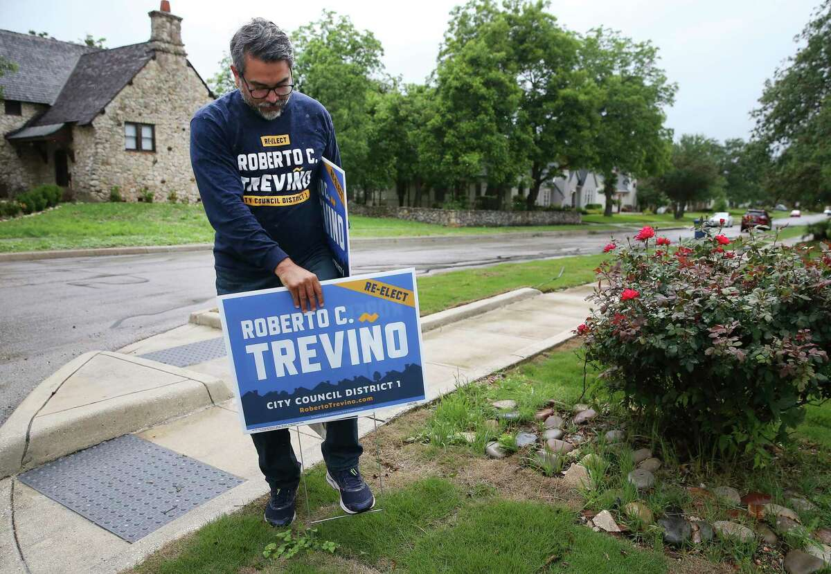 Treviño recently spent a day campaigning in his district.