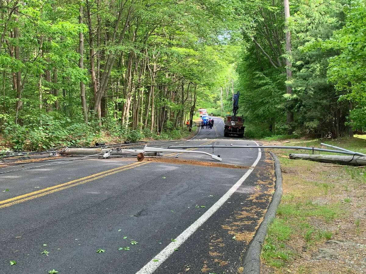 A portion of Nells Rock Road between Shelton Avenue and Buddington Road is closed until further notice on Friday, May 21, 2021, due to a truck striking wires along the roadway.