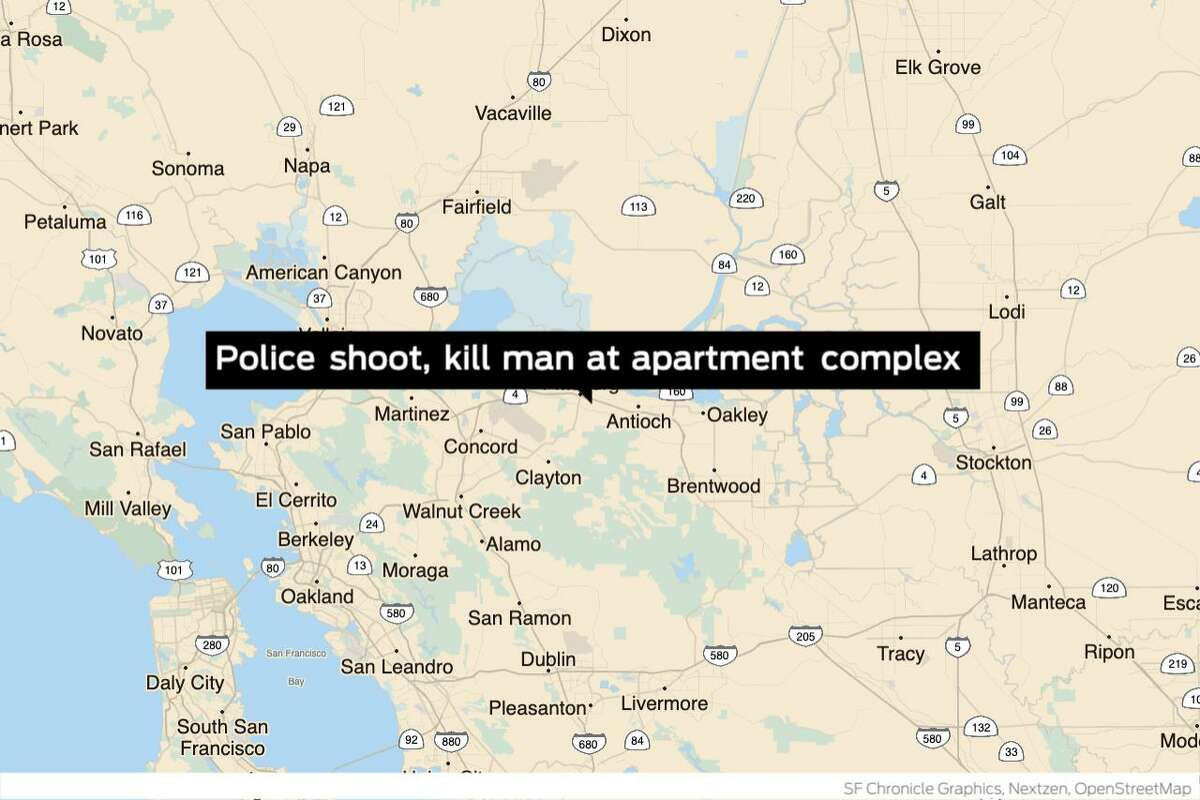 Pittsburg police shot and killed a man at an apartment complex on the 2300 block of Loveridge Road late Thursday.