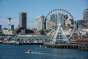 The Great Wheel on Seattle's waterfront. (Photo by: Education Images/Universal Images Group via Getty Images)