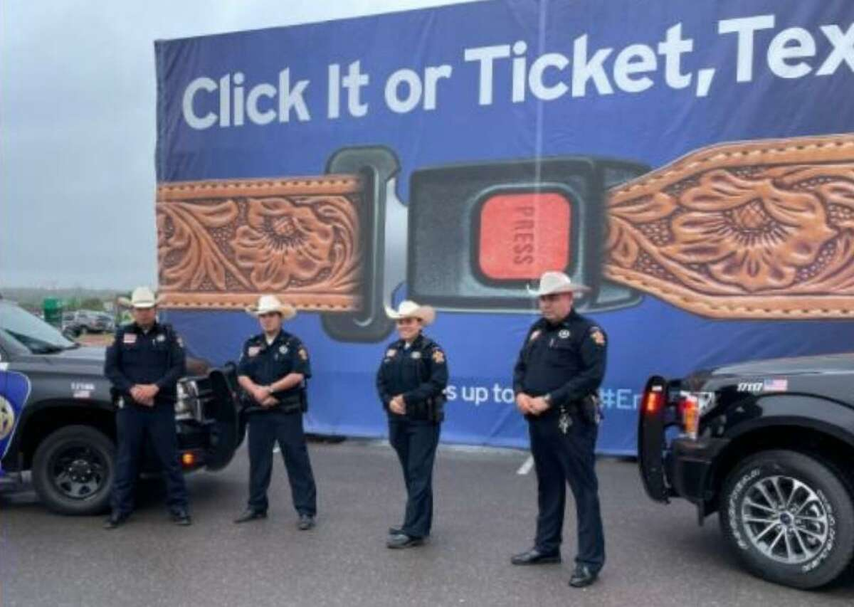 Webb County Precinct 4 Constable's Office deputies Joe Cardenas, Charlie Dickinson, Ruth Holguin and Cesar Gonzalez attended the Texas Department of Transportation Click It or Ticket It news conference on May 13.