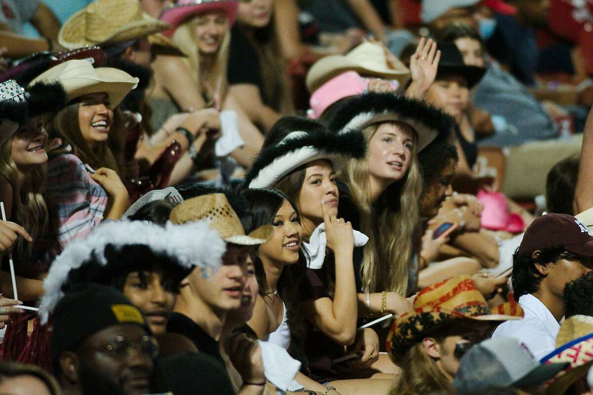 Pearland fans cheer on the Oilers against North Shore Thursday, May 20 at the University of Houston.