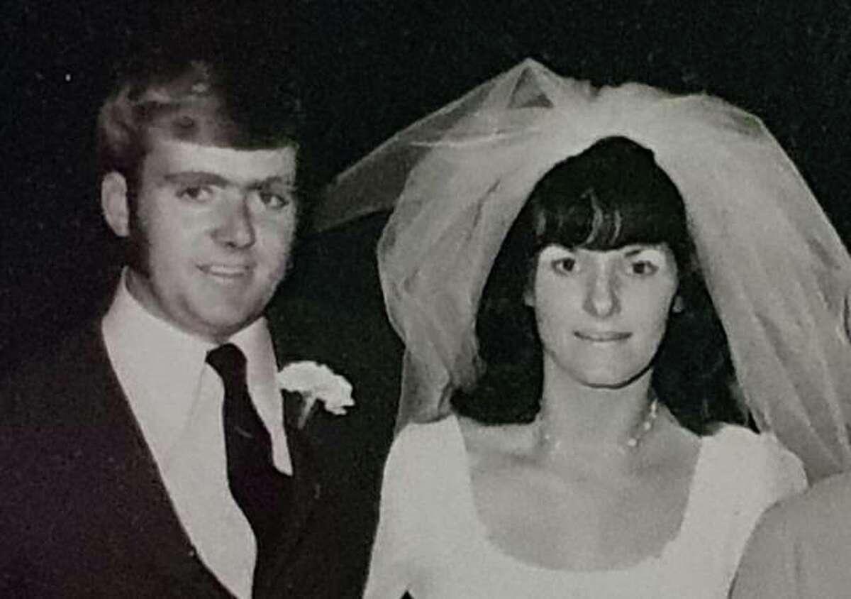 Mavis and Brian Halls at their wedding