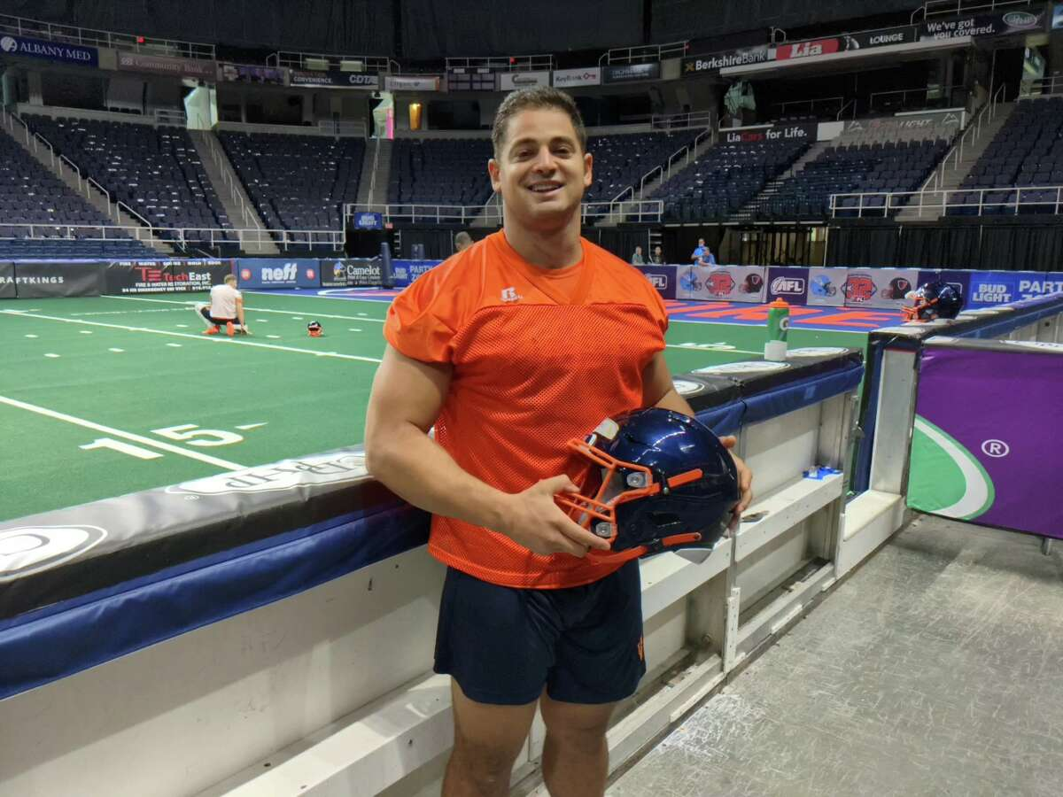 Gabe Ostrow, who was invited to Albany Empire training camp after a tryout, has made the opening-day roster for the National Arena League team. (Pete Dougherty / Times Union)