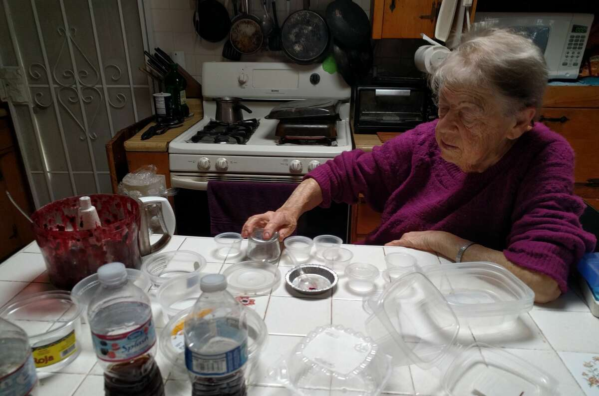 It takes around two hours for Susanna Zaraysky and her family to prepare weekly mealkits for Isaac Zaraysky who lives in a nursing home.