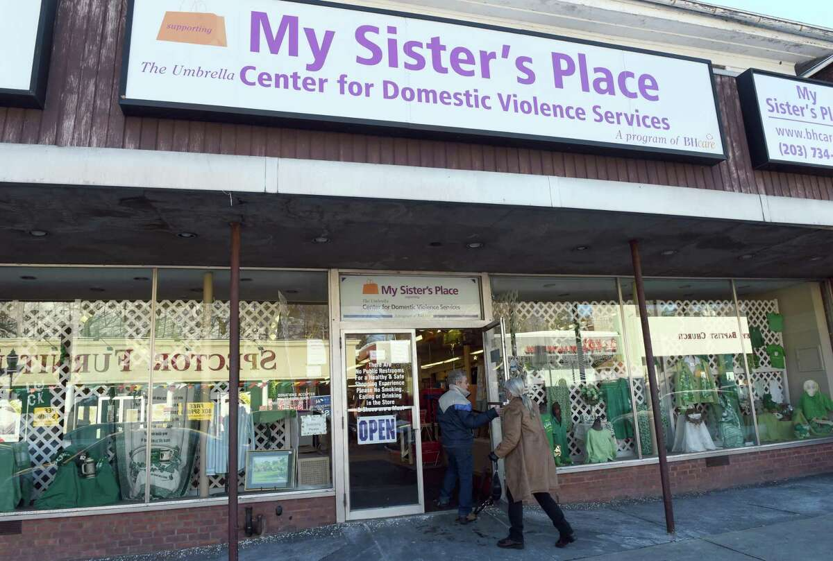 (Peter Hvizdak - New Haven Register) My Sister's Place, a thrift store on Main Street in Ansonia that raises awareness and funds a BHcare's program, The Umbrella Center for Domestic Violence Services. Feruary 5, 2015