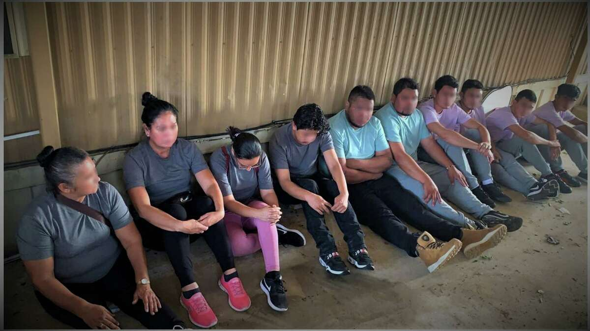 Federal and county authorities discovered these 10 people inside a south Laredo stash house. The individuals were determined to be migrants who had crossed the border illegally.