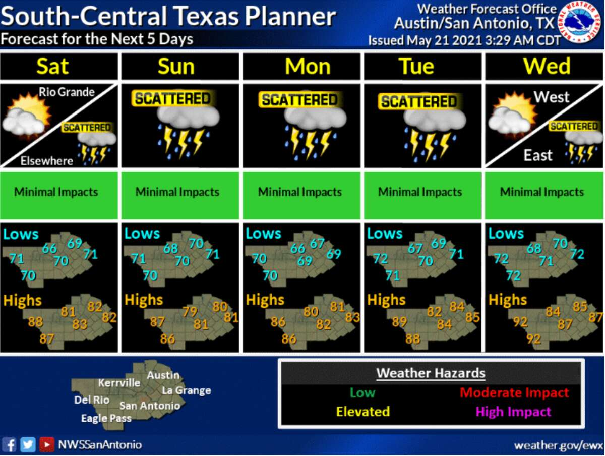 A tropical disturbance in the gulf may produce rain for the San Antonio area, according to the National Weather Service.
