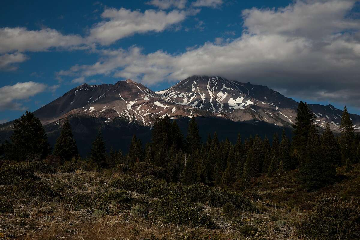 Mount Shasta in Siskiyou County, where COVID-19 case rates have surged above the statewide average.