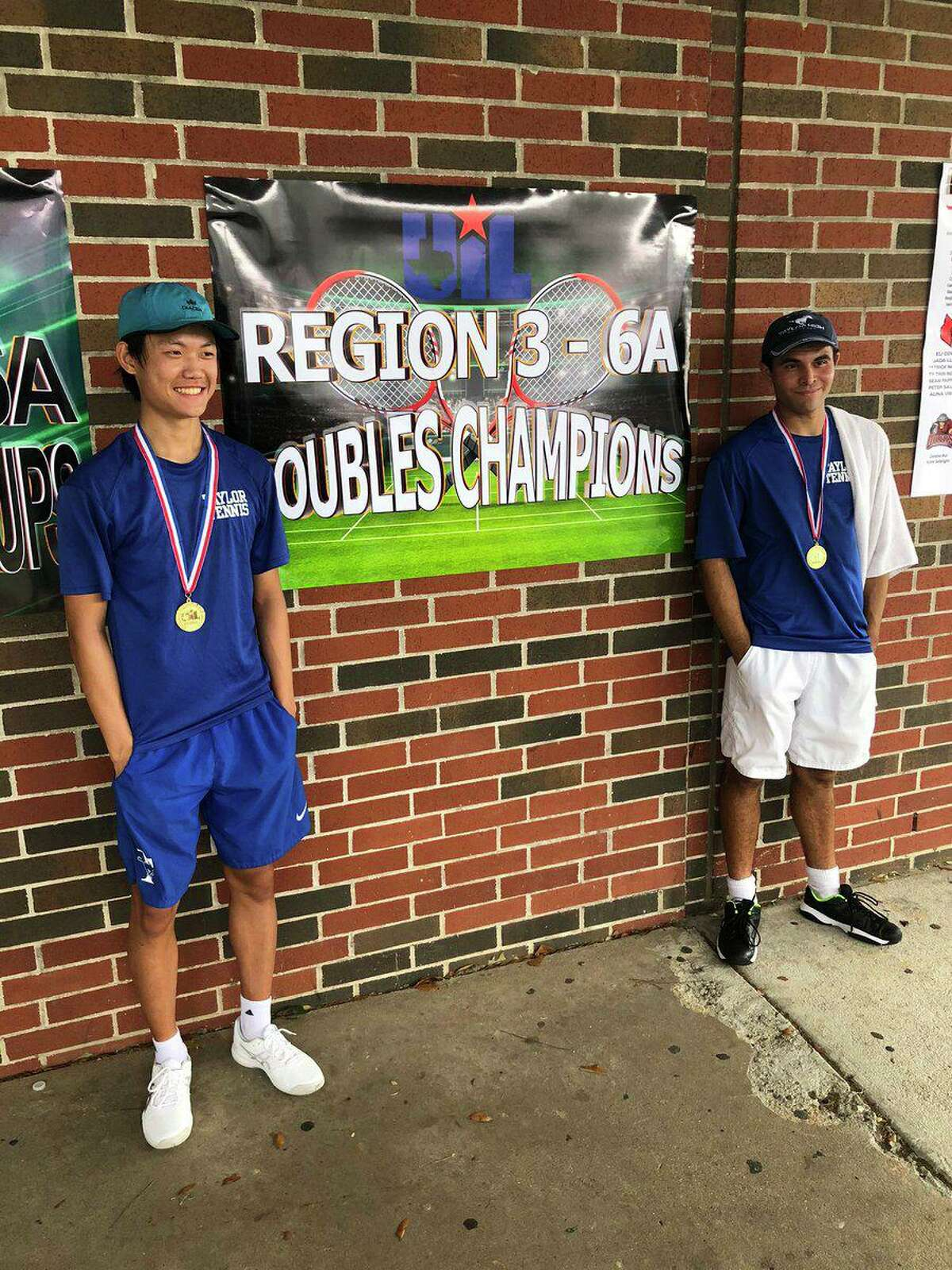 The Katy Taylor boys doubles team of Jonathan Lin and Cristopher Cequea-Rivero won the Region III-6A championship and advanced to the UIL state semifinals.