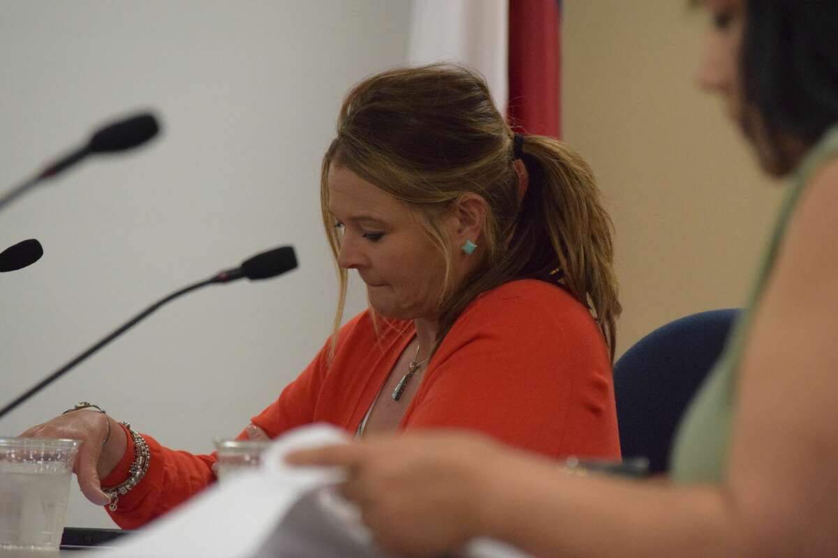 Amber Bass, a member of the Plainview ISD Board of Trustees, was unanimously nominated by the board to throw her name into the hat for election as a member of the Board of Directors for the Texas Association of School Boards.