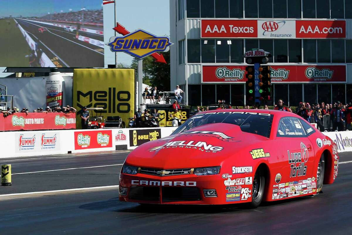 Pro Stock driver Erica Enders has enjoyed success in Baytown, the track she grew up on.