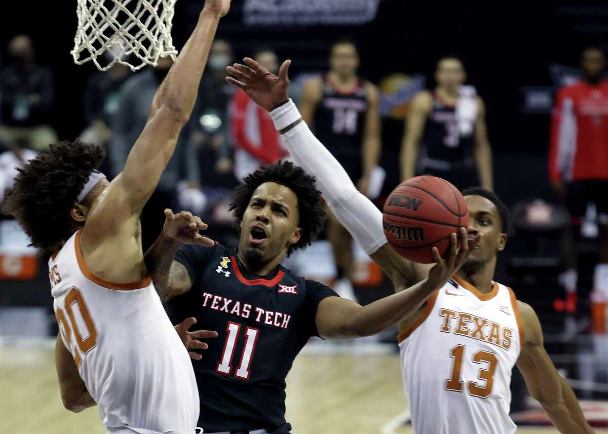 Kyler Edwards (11) brings Final Four experience as a transfer from Texas Tech.