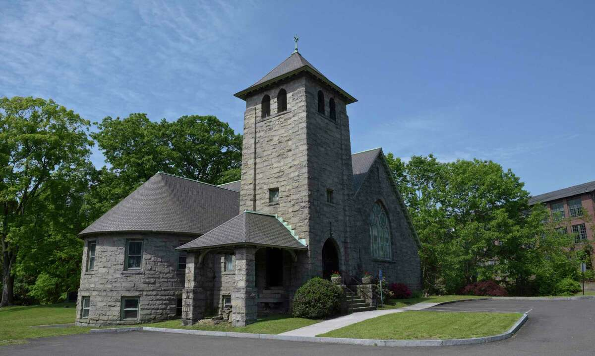 The Georgetown Bible Church, 5 North Main Street, in Georgetown, has been there for decades, with the number of parishioners dwindling down to a few. Friday morning, May 21, 2021, in Redding, Conn.