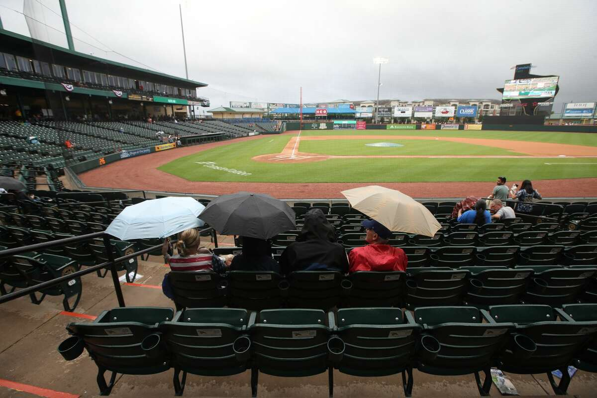 Fans wait for the start of a minor league baseball game between the Sugar Land Skeeters and the El Paso Chihuahuas on Friday, May 21, 2021, at Constellation Field in Sugar Land.