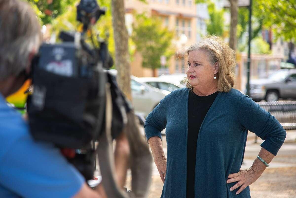 Windsor Town Council Member Debora Fudge discusses the mayor's resignation Friday.