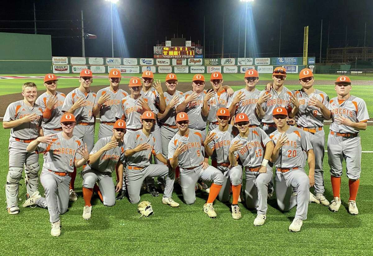 The Orangefield baseball team poses for a picture after advancing past Hardin-Jefferson in the Class 4A regional quarterfinals.