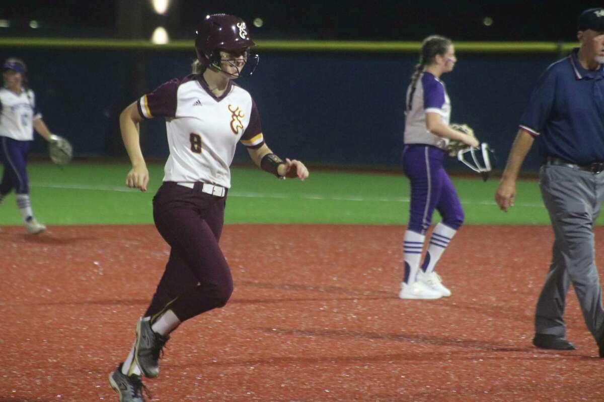 Lorelei Graham circles the bases after clouting Deer Park's second grand slam of the night, ending the Region III semifinal series.
