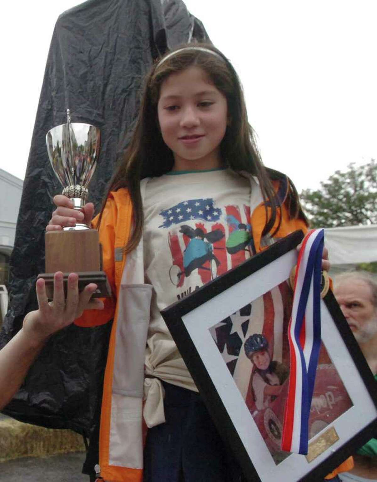 Elena Kim, 11, took second place at the Soap Box Derby, on Sunday, Sept. 12, 2010.