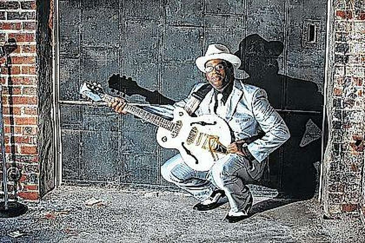 Blues musician Robert Sampson of Jacksonville will perform during June at the Bluffs Market in downtown Bluffs.