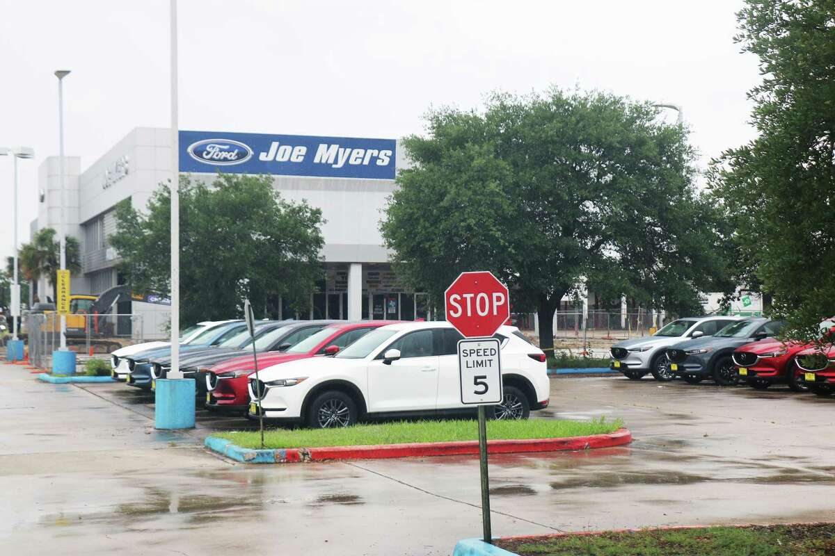 Many of the 100 new cars remaining on the Joe Myers Ford lot have been strategically placed near the road and upfront. A semiconductor chip shortage around the nation has car dealers all over the area and around the nation scrambling for new cars and used cars.