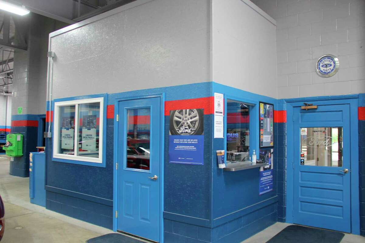 The newly refurbished service area for Ordus Ford in Bad Axe. The dealership suffered from a fire back in March 2020. (Robert Creenan/Huron Daily Tribune)