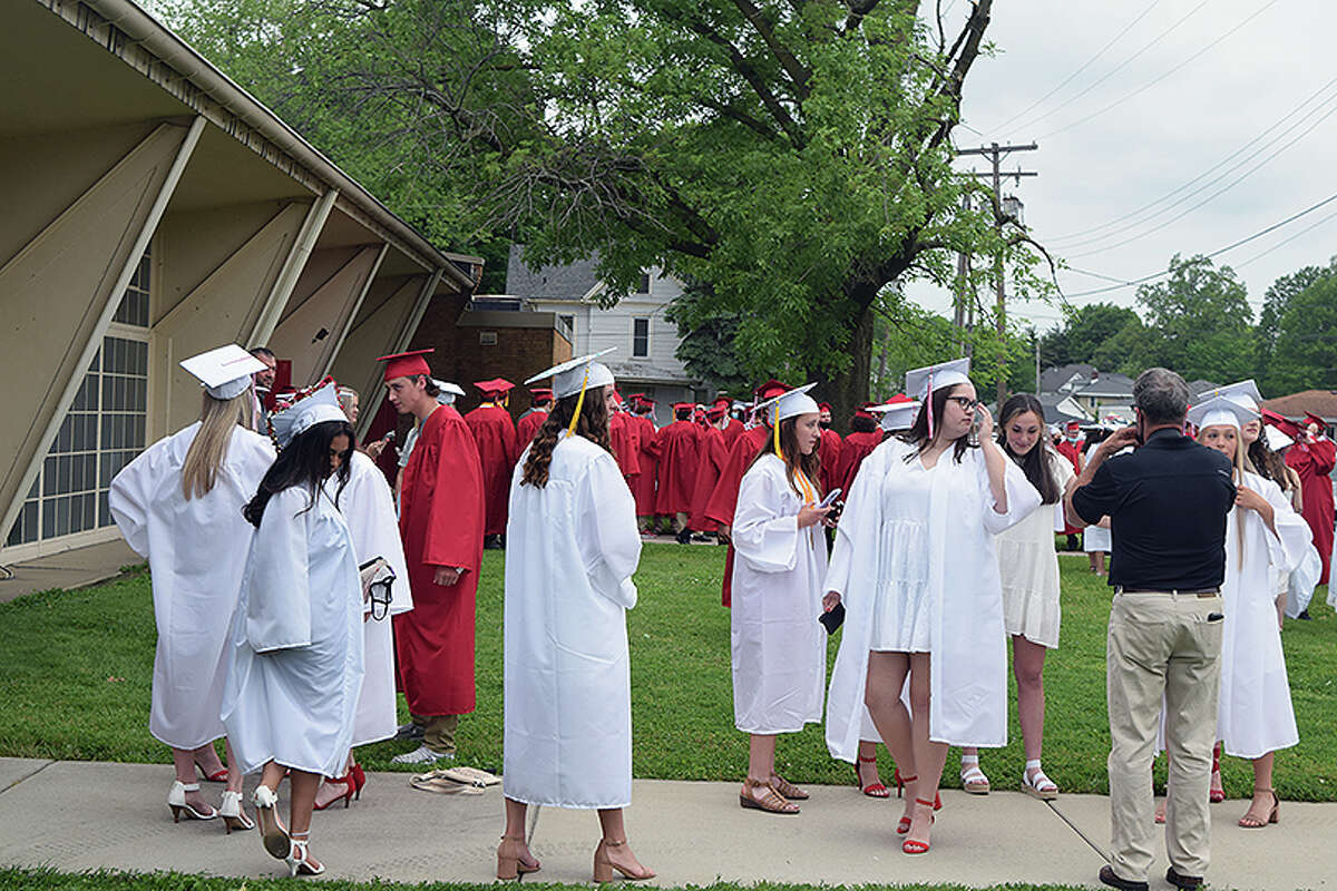 Scenes from the May 21 commencement ceremony for Jacksonville High School's Class of 2021.