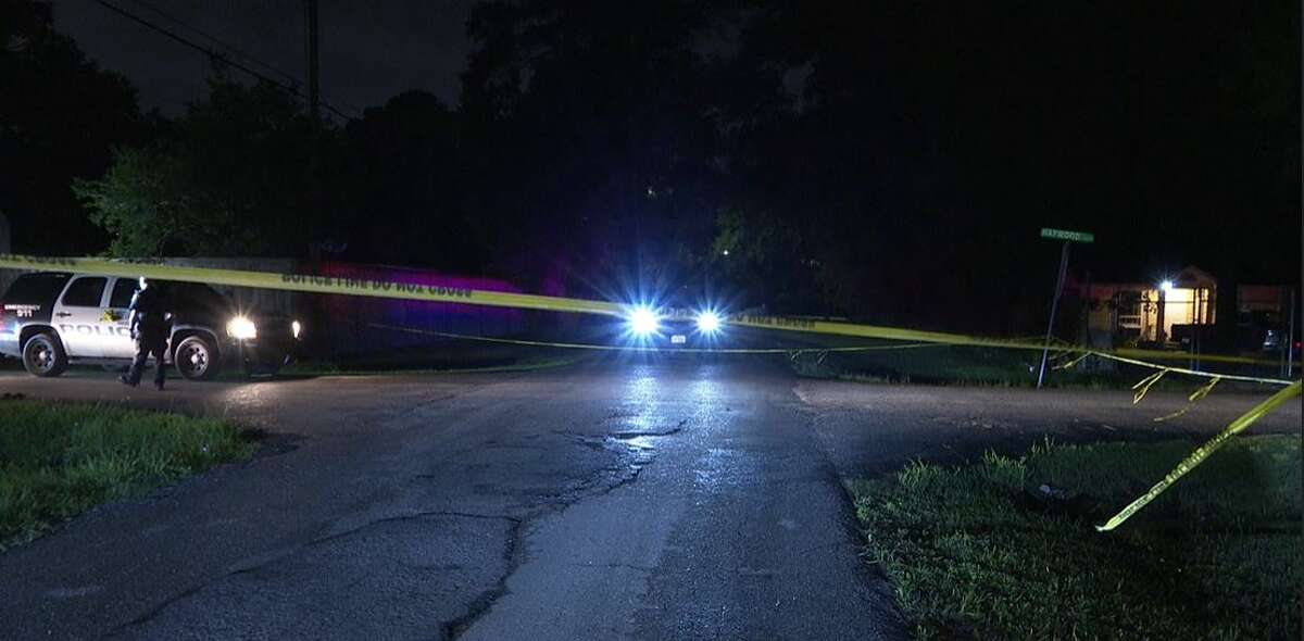 Police investigating a body found in a ditch in northeast Houston.