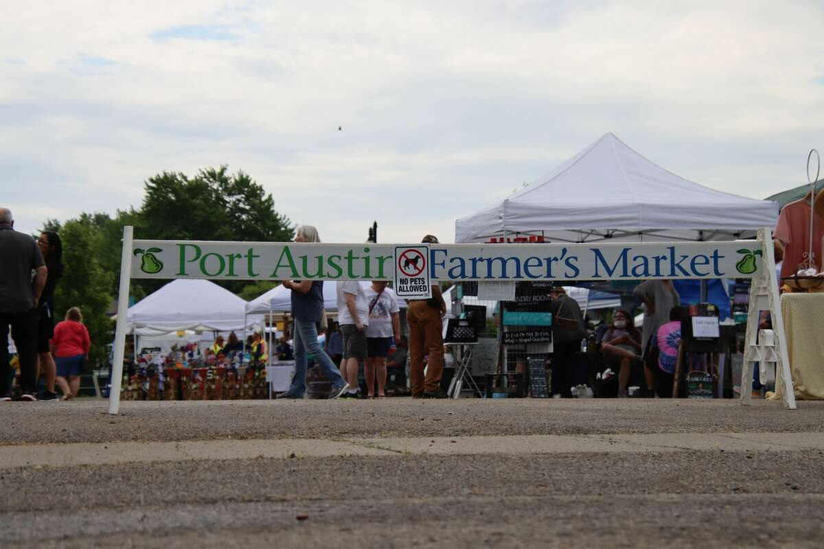 Early morning rain didn't slow the crowds at Port Austin's summer kickoff event May 22.