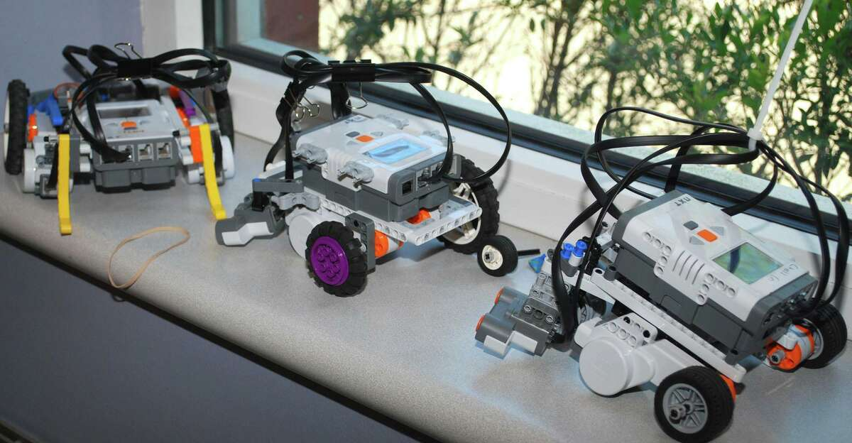 Robotic creations like these are among the projects made at a past Robotics And Beyond summer camp.