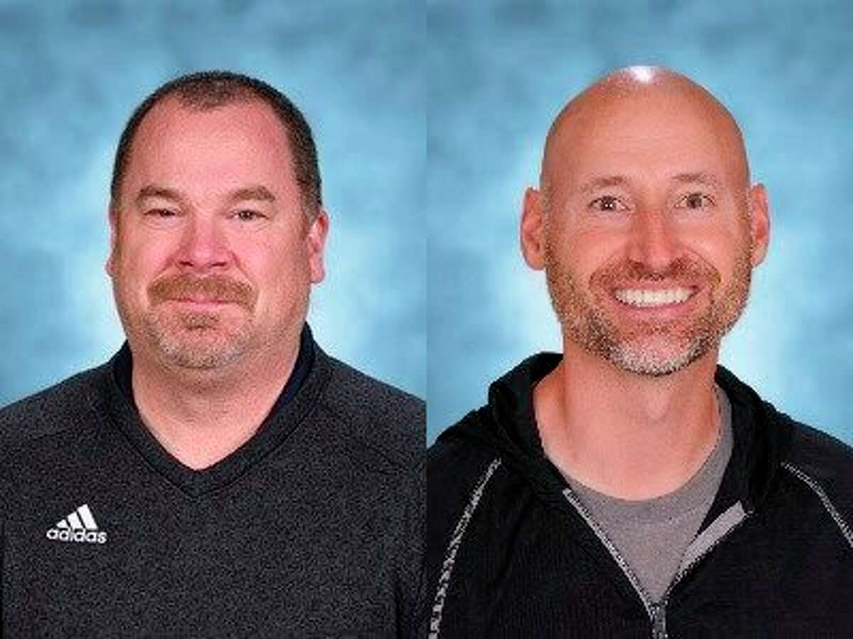 The Michigan Education Association recognized the recipients of the 2020 and 2021 Outstanding Persons In Education (OPIE) Award through a video released May 19.Michael Tiesworth (left) andRyan Jaroszfrom Frankfort-Elberta Area Schools were awarded this honor. (Courtesy photo)