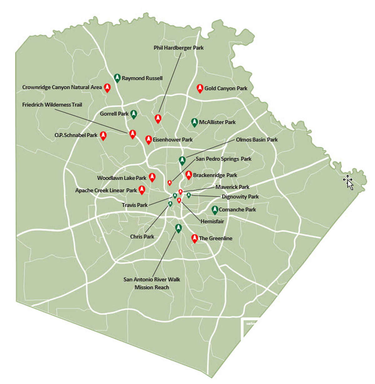 S.A.'S TOP PARKS AND GREEN SPACES