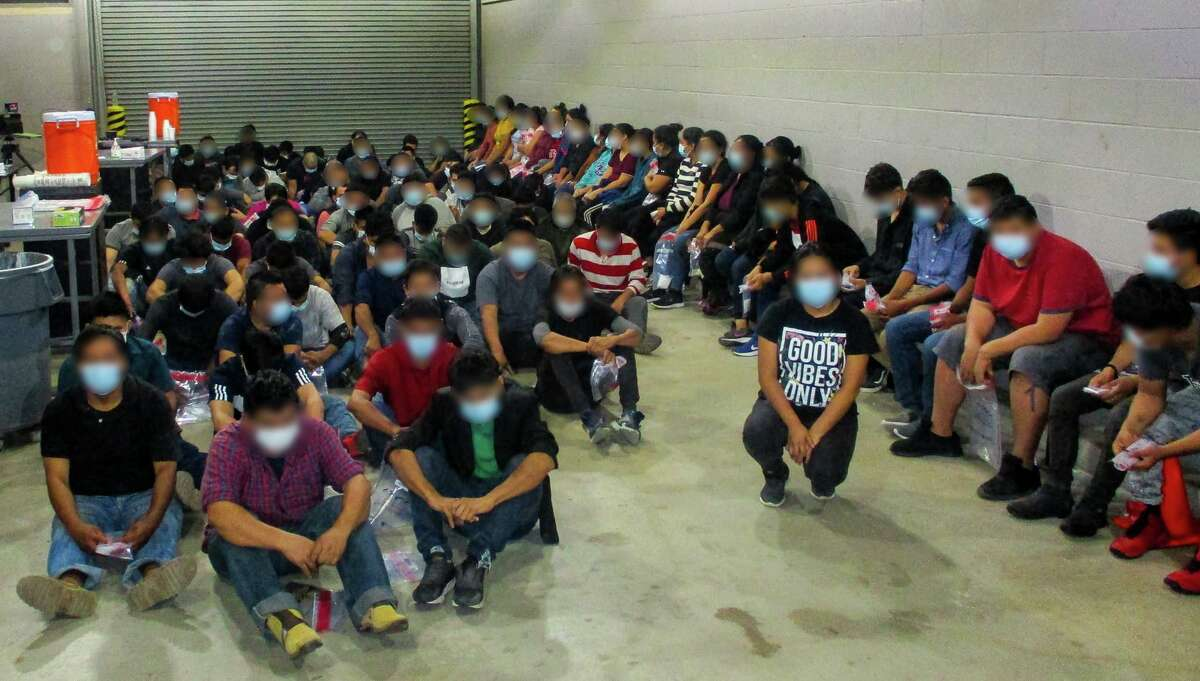 U.S. Border Patrol agents discovered 107 individuals in the back of an 18-wheeler. All were determined to be migrants who had crossed the border illegally.