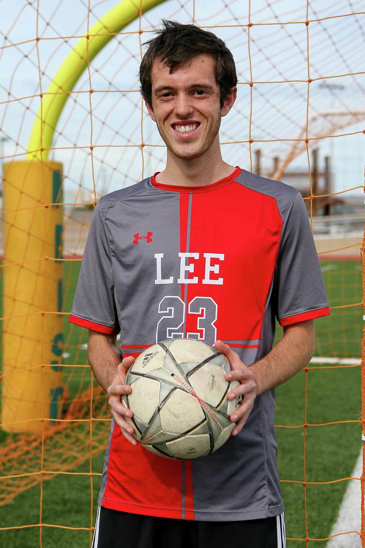 The Express-News' Boys Player of the year, LEE's Henry Bowland, at Comalander Stadium on Wednesday, May 19, 2021.