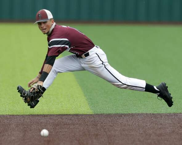 in the sixth inning during Game 3 of a Region II-6A high school baseball quarterfinal series at Tomball Memorial High School, Saturday, May 22, 2021, in Tomball. Photo: Jason Fochtman/Staff Photographer / 2021 © Houston Chronicle