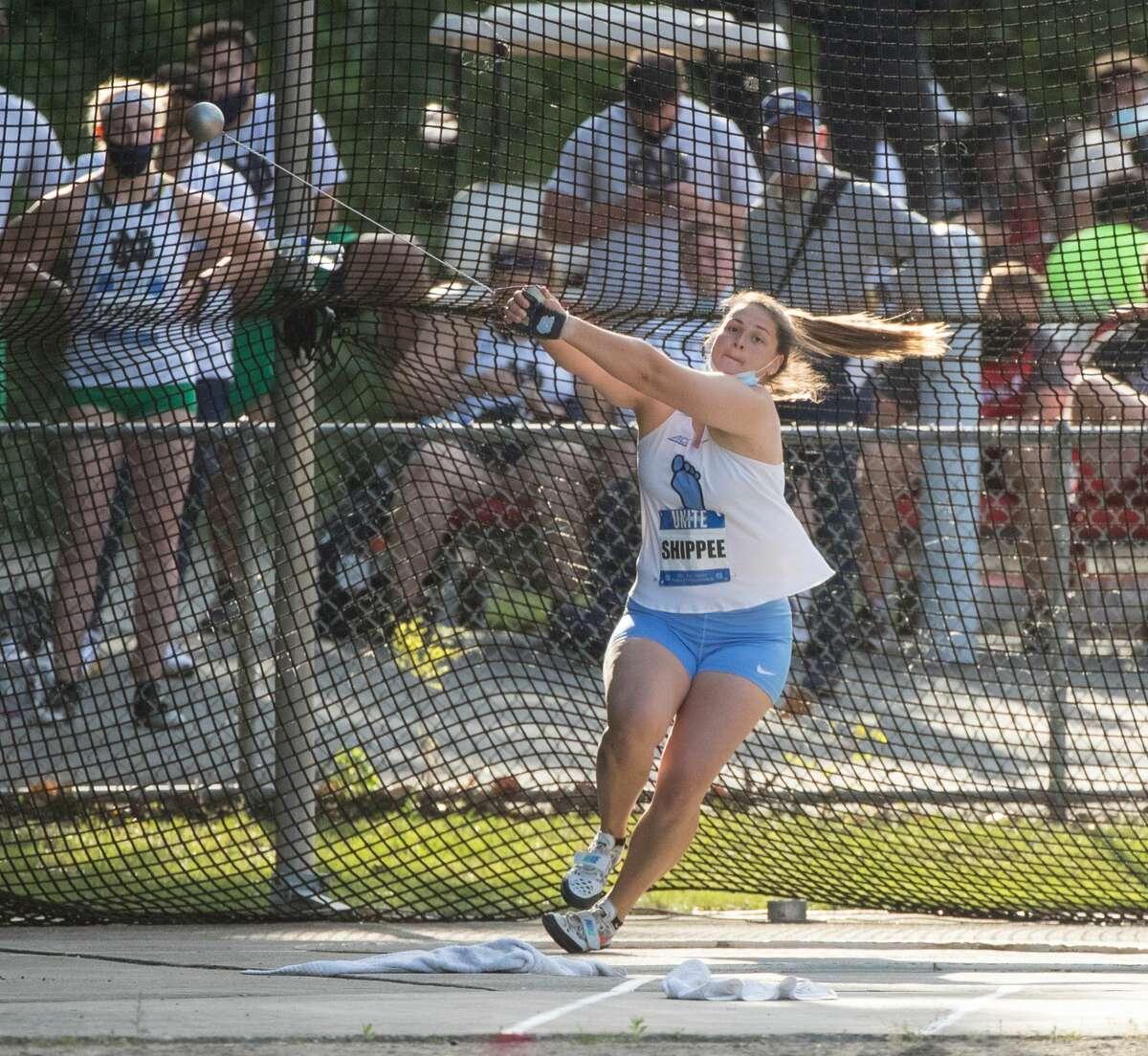 Shenendehowa graduate Jill Shippee of the North Carolina track team.