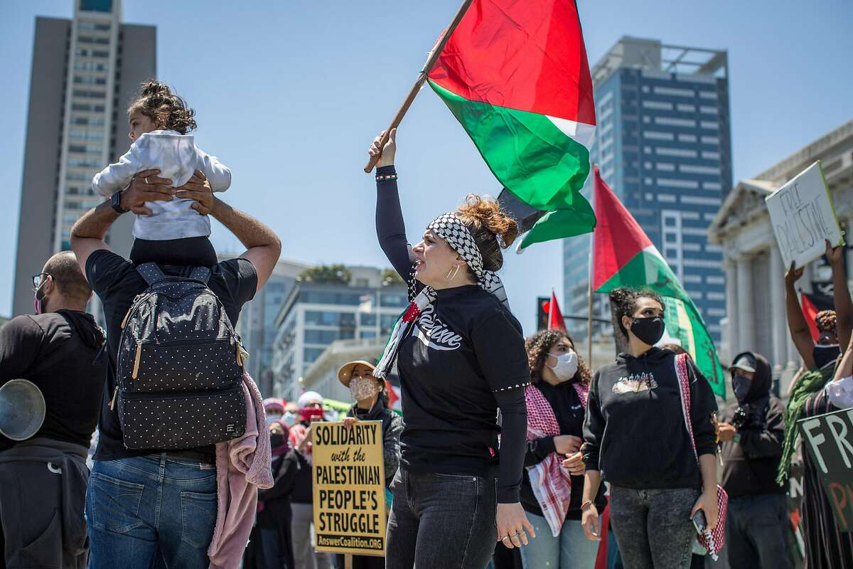 The Civic Center demonstration was driven, in part, by heavy casualties on the Palestinian side.