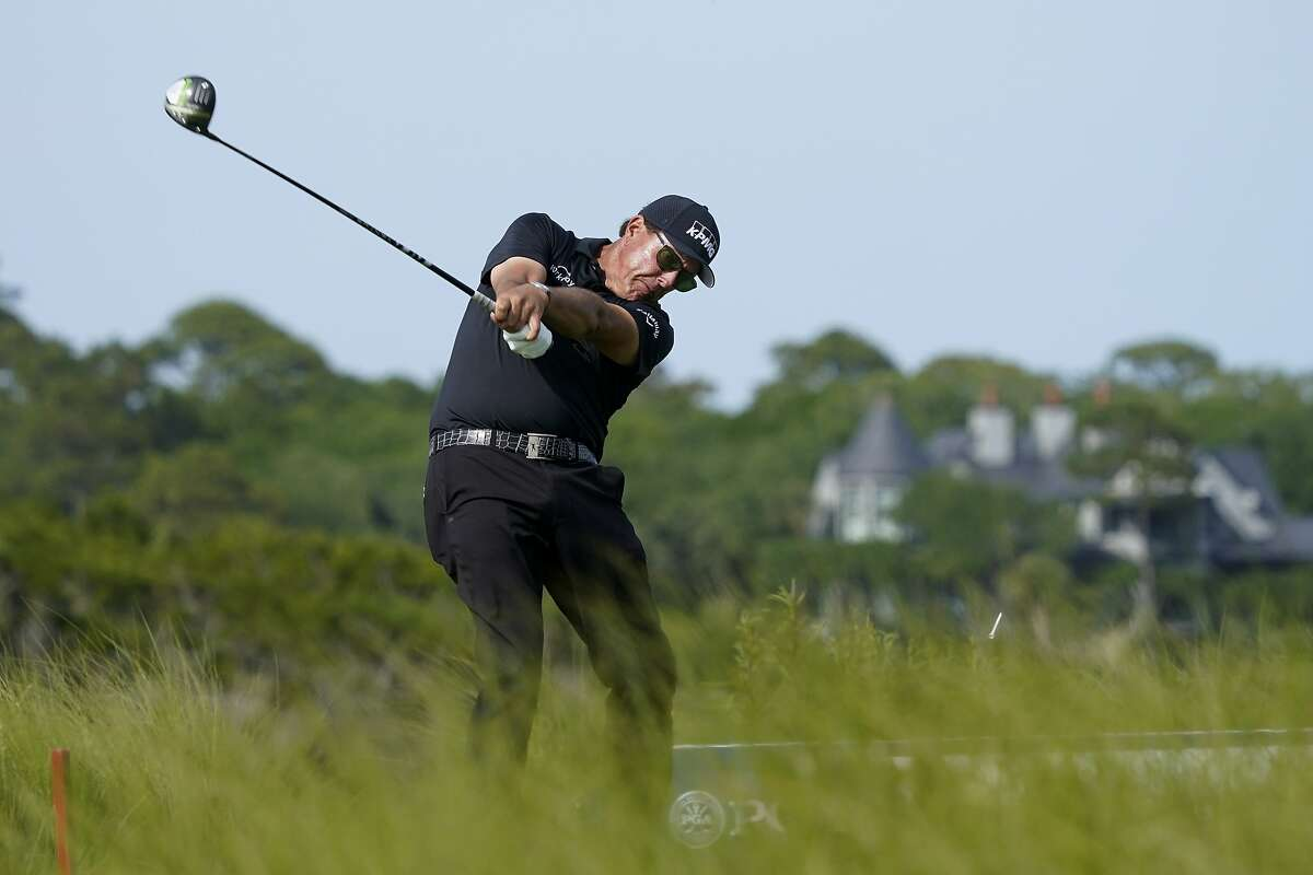 Phil Mickelson remains in contention to win the PGA Championship. Final-round coverage Sunday begins at 7 a.m. on ESPN and moves to CBS at 10 a.m.