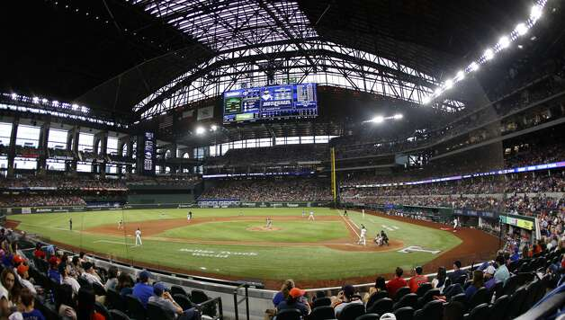 ARLINGTON, TX - MAY 22: A general view inside Globe Life Field during the game between the Houston Astros and the Texas Rangers on May 22, 2021 in Arlington, Texas. (Photo by Ron Jenkins/Getty Images) Photo: Ron Jenkins/Getty Images / 2021 Getty Images