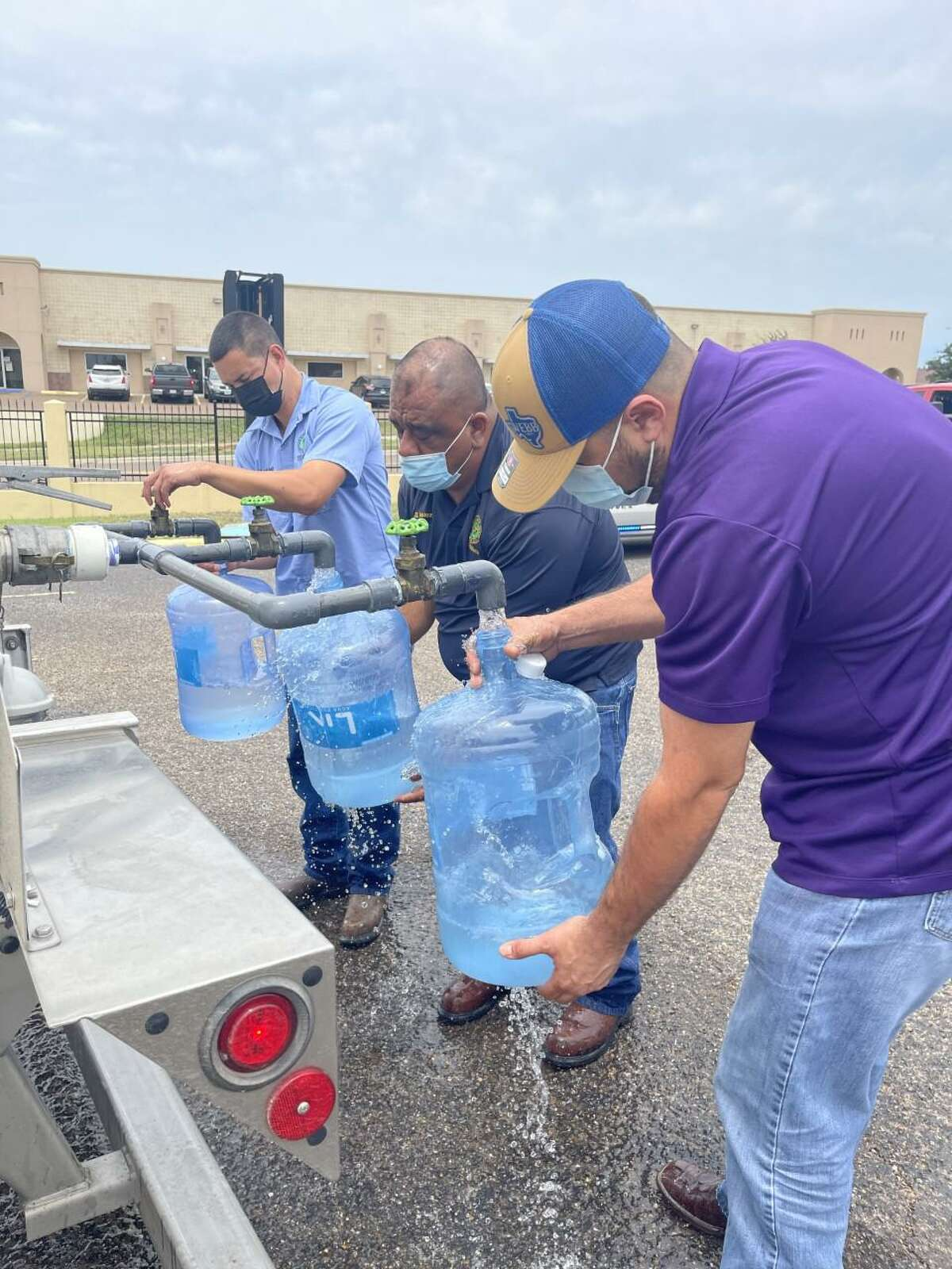Water donations and area cleanups were provided this week for many people in Webb County who were impacted by the storm which hit the area Monday night.
