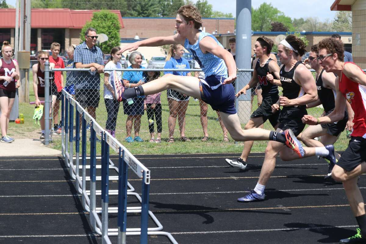 Athletes from Brethren, Manistee Catholic Central and Onekama compete at their track and field regional on May 22 at Brethren.